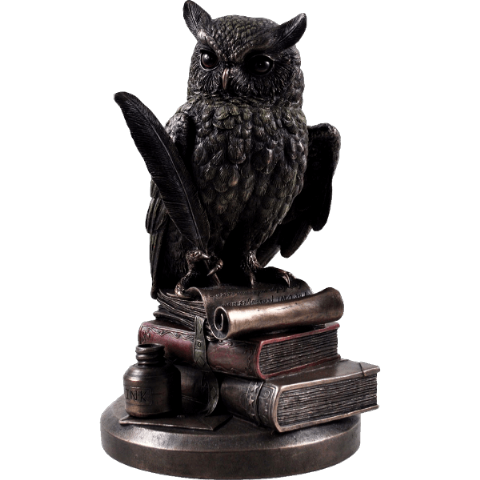 Wise Old Magical Owl Cold Cast Bronze Sculpture